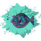 Les eaux de pêche colorées éclaboussent Photographie stock libre de droits
