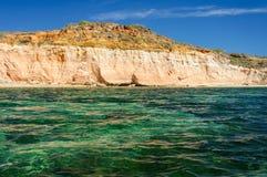 Les eaux de turquoise au ` Emeraudes de Baie d photos libres de droits