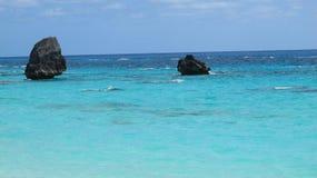 Les eaux des Bermudes Photographie stock