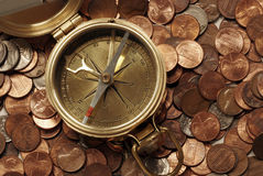 Les eaux financières de navigation Photographie stock