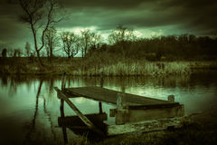 Les eaux foncées Photos libres de droits