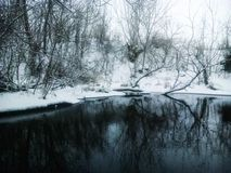 Les eaux noires et blanches Photographie stock libre de droits