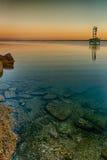 Les eaux peu profondes de baie Photographie stock