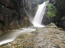 Les eaux soyeuses de cascade Photos stock