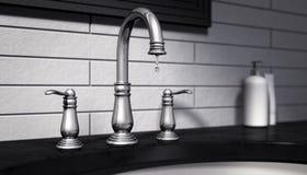 Les eaux usées de égouttement d'arrêt de robinet Image libre de droits