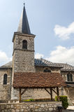 Les Echelles (Savoie, France), church Royalty Free Stock Image