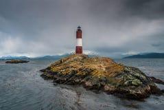 Les Eclaireurs latarnia morska, latarnia morska przy końcówką świat Zdjęcia Stock