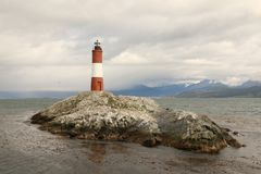 Les Eclaireurs Lighthouse in the Beagle Channel Royalty Free Stock Image