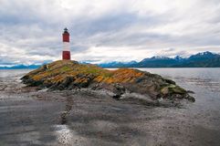 Les Eclaireurs lighthouse, Beagle channel,Ushuaia Stock Photography