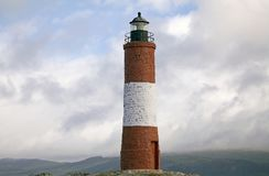 The Lighthouse at the End of the World in Beagle Channel, Argentina Stock Images