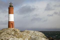The Lighthouse at the End of the World in Beagle Channel, Argentina Stock Photography