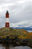 Les Eclaireurs Lighthouse, Ushuaia, Patagonia, Argentina Stock Images