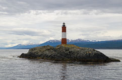 Les Eclaireurs Lighthouse, Ushuaia, Patagonia, Argentina Royalty Free Stock Photo