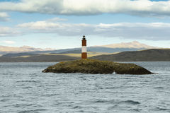 Les Eclavireurs Lighthouse, Beagle Channel, Tierra del Fuego Royalty Free Stock Photography