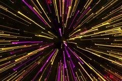 Les effets de la lumière ont fait des lumières d'arbre de X'mas Images libres de droits