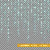 Les effets de la lumière rougeoyants de scintillement ont isolé réaliste Élément de conception de décoration de Noël Fusée de len illustration de vecteur