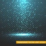 Les effets de la lumière rougeoyants de scintillement ont isolé réaliste illustration libre de droits