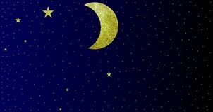 Les effets scintillants musardent la vue de ciel nocturne d'étoiles avec le fond illustration de vecteur