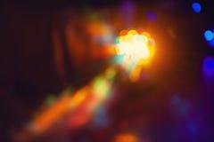 Les effets spéciaux de lumière de club de disco de couleur et le laser montrent Image stock