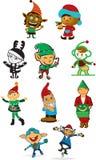 Les elfes de Santa Photos libres de droits