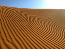 Les Emirats Arabes Unis, Abu Dhabi, modèle de sable de désert photo libre de droits