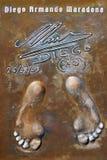Les empreintes de pas de Maradona Photo libre de droits