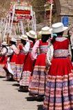 Les endroits les plus intéressants de l'Amérique du Sud, festival péruvien Wititi ont protégé l'UNESCO Photo stock