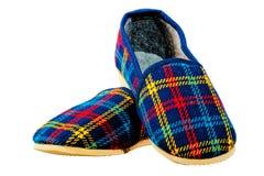 Les enfants autoguident les pantoufles chaudes pour l'hiver Image stock