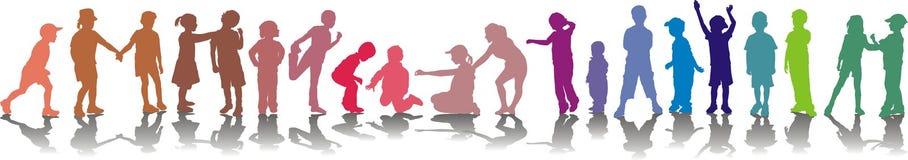 les enfants colorent le vecteur d'isolement Photos libres de droits