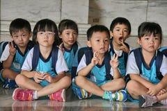 Les enfants dans le zhongzhengtang de Taïpeh, Taiwan Photographie stock libre de droits