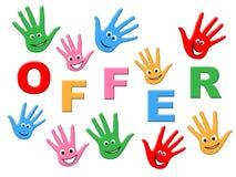 Les enfants de vente représente l'enfant et les ventes d'enfance Photos libres de droits