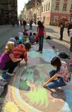 Les enfants dessine Photo libre de droits