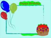 Les enfants encadrent la salutation de joyeux anniversaire Illustration de Vecteur