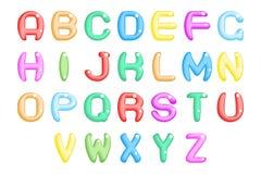 Les enfants font la fête l'alphabet abstrait a d'amusement à une illustration de vecteur d'icône de symbole de police Photo libre de droits