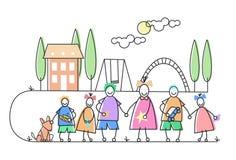 Les enfants groupent des vacances de loisirs de terrain de jeu Photographie stock