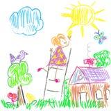 Les enfants ont coloré le monde Photos libres de droits