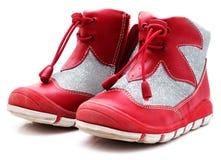 les enfants ont isolé la chaussure de s Photo libre de droits