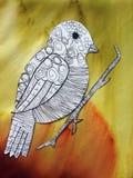 Les enfants ont peint le bel oiseau, Lithuanie photographie stock