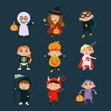 Les enfants portant Halloween costume le vecteur illustration libre de droits