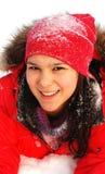 Les enfants se réjouissent à l'hiver venu Photos stock
