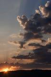 Coucher du soleil dramatique Photographie stock