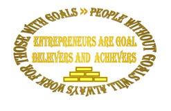 Les entrepreneurs sont croyant et accomplisseur de but illustration de vecteur