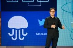 Les entreprises lapident à la convergence de Microsoft photo stock