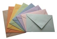 Les enveloppes ont isolé photo stock
