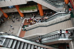Les escalators Photographie stock