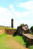 Les escaliers à la tour d'horloge, fort de Galle Images stock