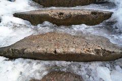Les escaliers dans la glace Photo libre de droits
