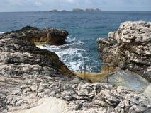 Les escaliers dans la mer Photographie stock libre de droits