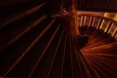 Les escaliers de cercle Photographie stock libre de droits