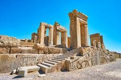 Les escaliers de Tachara, Persepolis, Iran images libres de droits